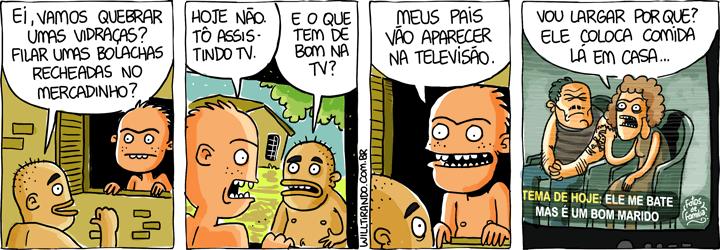 TV televisão família problemas desestruturada pais filhos exemplo
