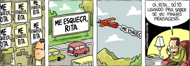 Rita esquecer amor relação avião mensagem outdoor cartaz frase Rita