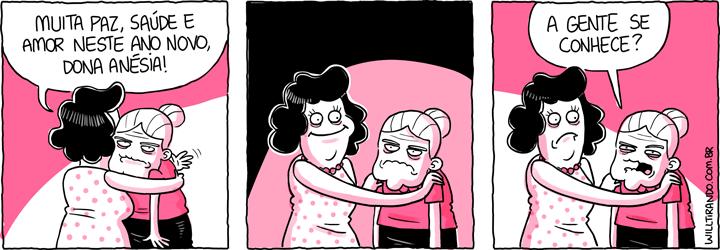 Anésia Ano Novo reveillon parente abraço conhecido