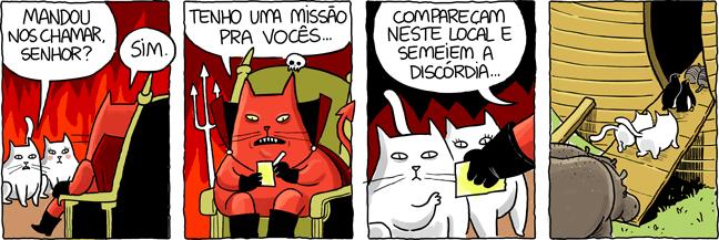 gato missão capeta diabo felino arca de noé inferno