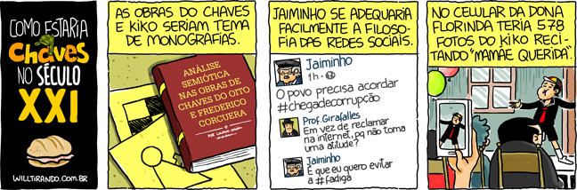 Chaves Kiko série monografia facebook internet século XXI fadiga celular mamãe querida Jaiminho