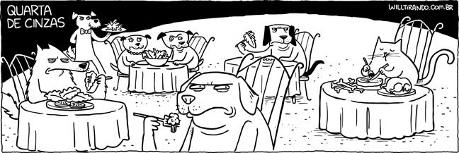 cão cachorro gato quarta de cinzas  carne legumes verduras vegetal penitência