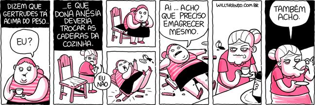 Anésia Gertrudes péso obesidade cadeira velha café braço a torcer razão