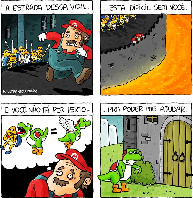 Super Mario Brother Yoshi música vídeo-game games castelo Desejo de Amar Eliane de Lima tartarugas koopa troopa