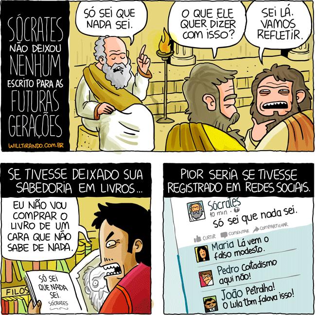 Filosofia filósofos Sócrates reflexão sabedoria registro livro frase pensamento pensador refletir