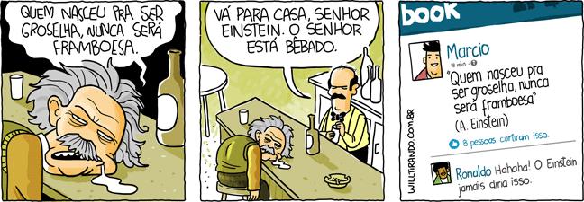 Albert Einstein frase pensamento bêbado embriagado garçom bar bebida facebook citação